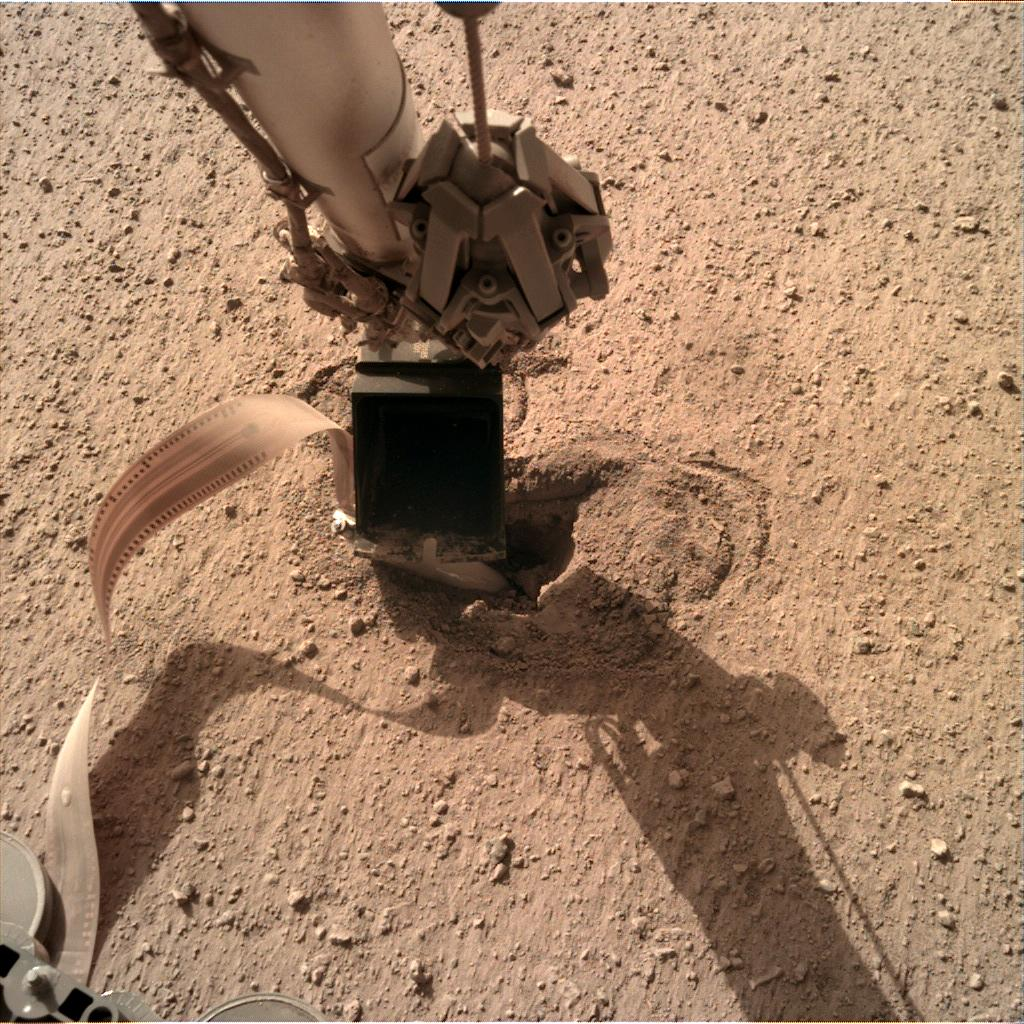 Nasa's Mars lander InSight acquired this image using its Instrument Deployment Camera on Sol 503