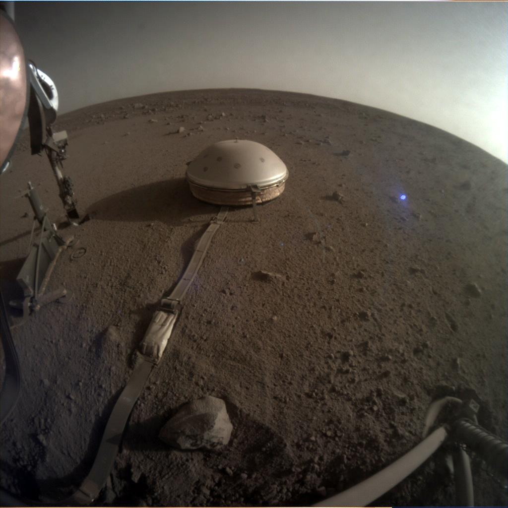 Nasa's Mars lander InSight acquired this image using its Instrument Context Camera on Sol 510