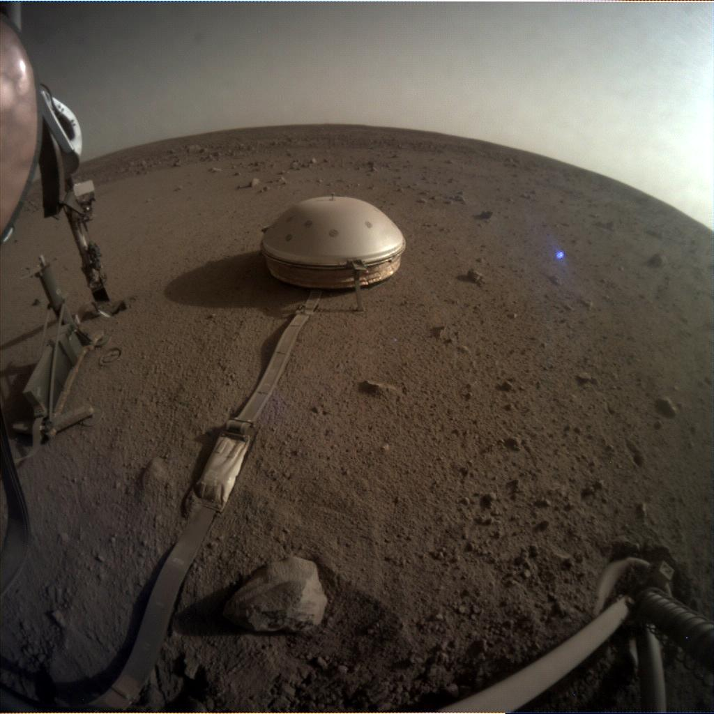 Nasa's Mars lander InSight acquired this image using its Instrument Context Camera on Sol 516