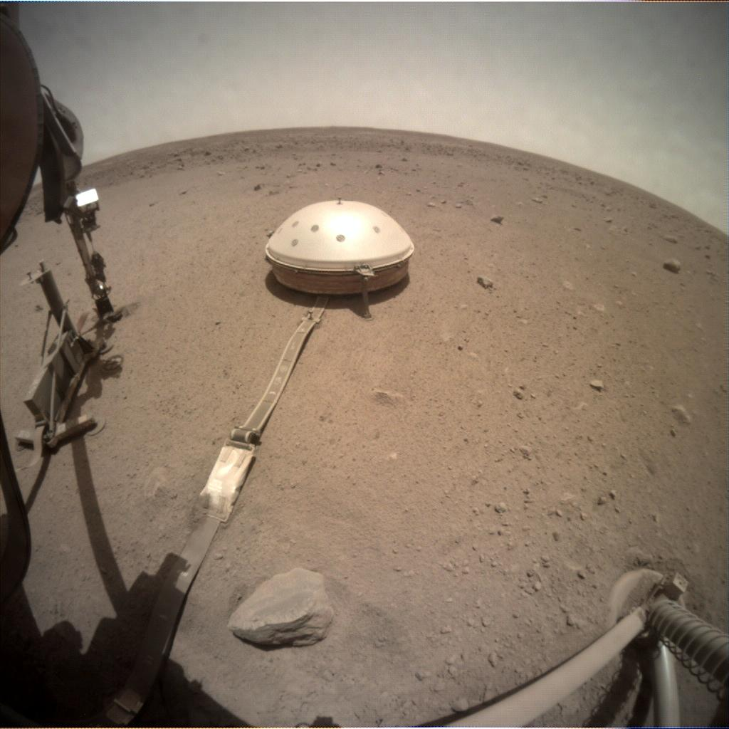 Nasa's Mars lander InSight acquired this image using its Instrument Context Camera on Sol 520
