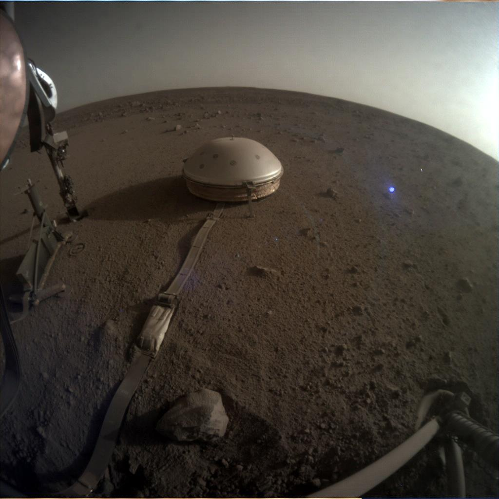 Nasa's Mars lander InSight acquired this image using its Instrument Context Camera on Sol 523