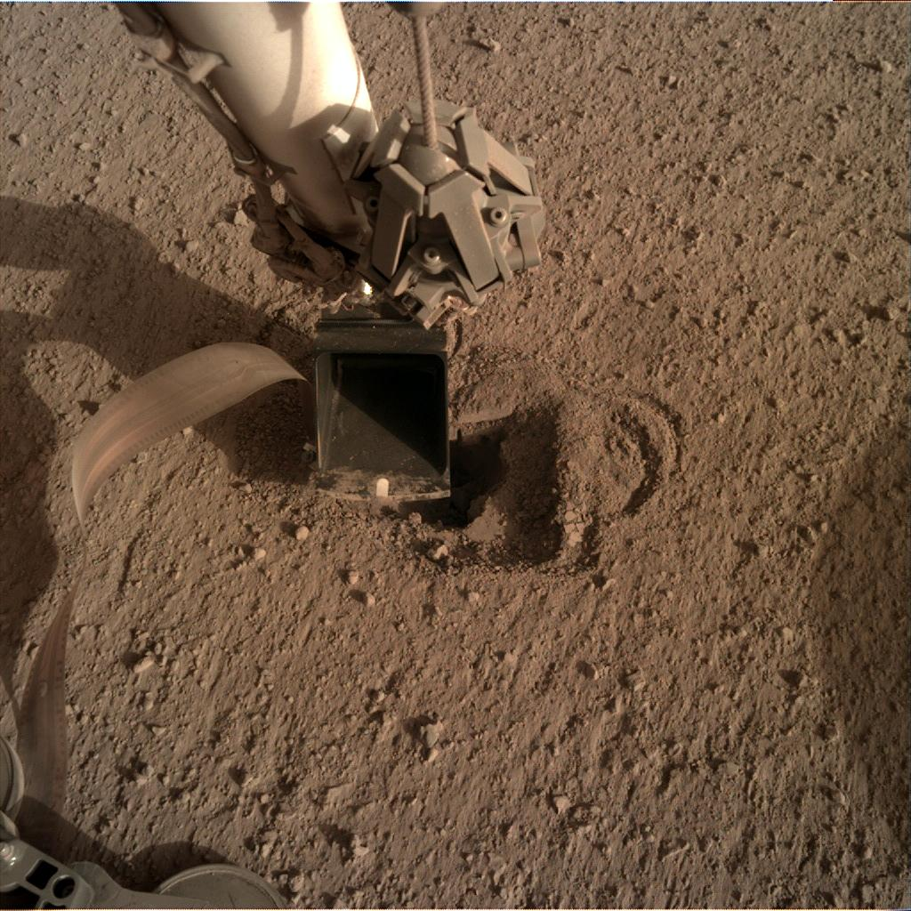 Nasa's Mars lander InSight acquired this image using its Instrument Deployment Camera on Sol 523