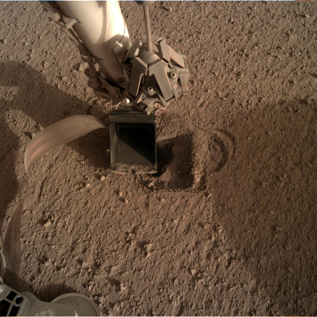 Nasa's Mars lander InSight acquired this image using its Instrument Deployment Camera on Sol 524