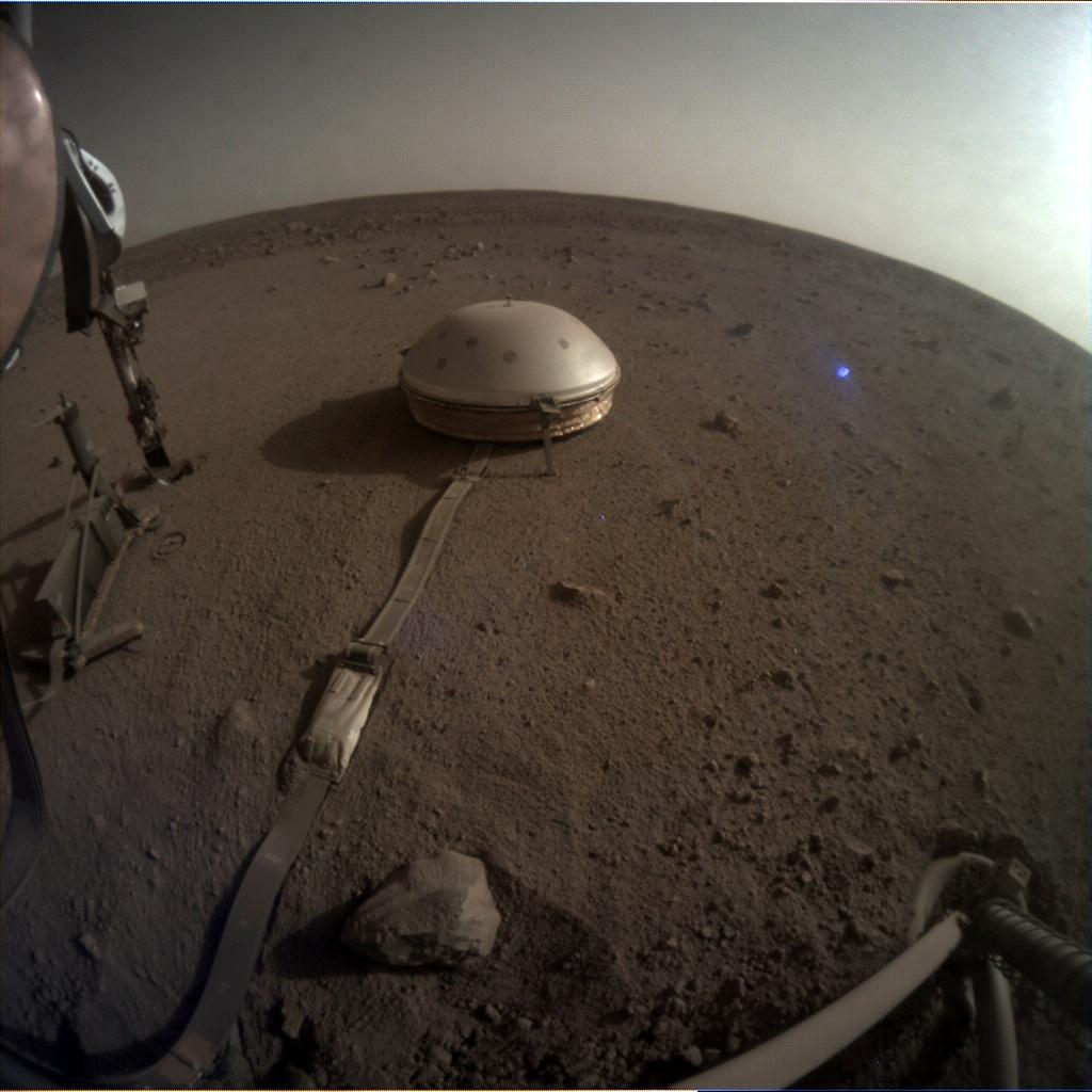 Nasa's Mars lander InSight acquired this image using its Instrument Context Camera on Sol 530