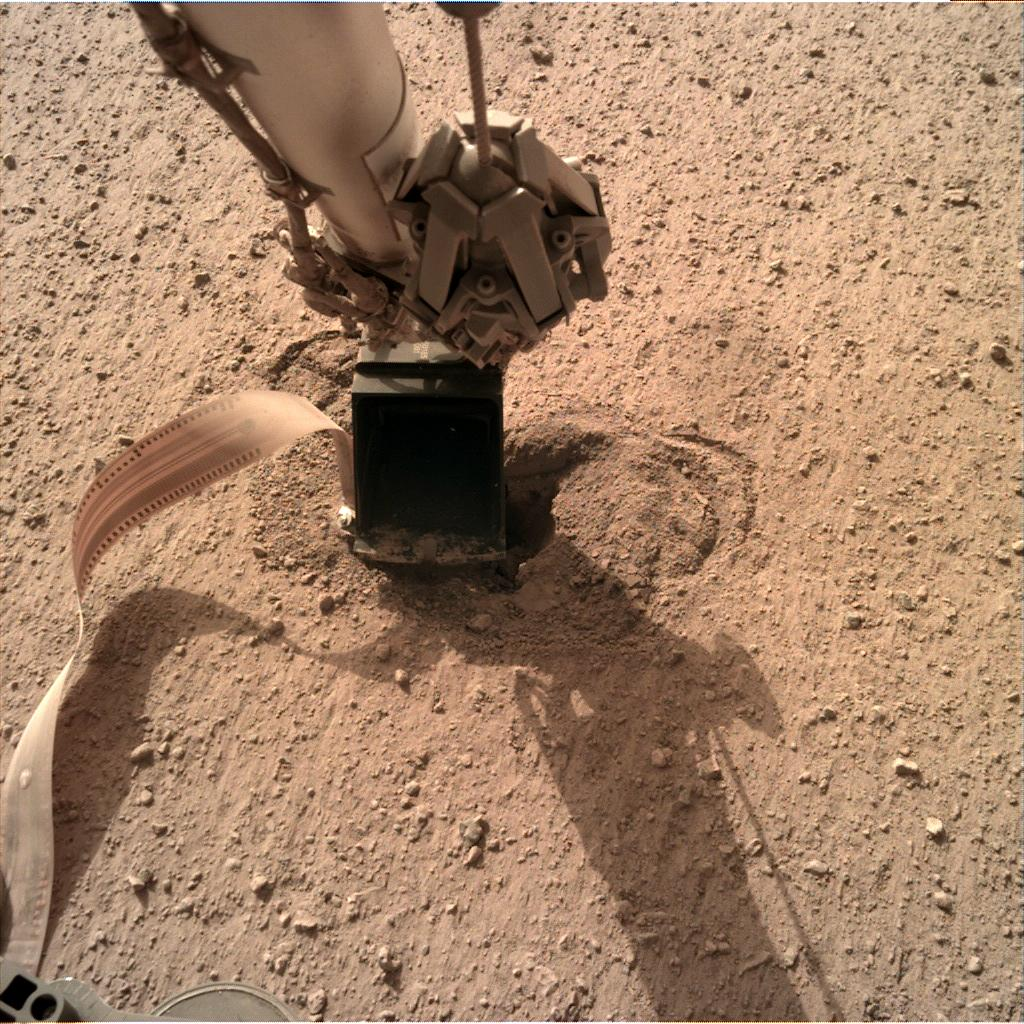 Nasa's Mars lander InSight acquired this image using its Instrument Deployment Camera on Sol 531
