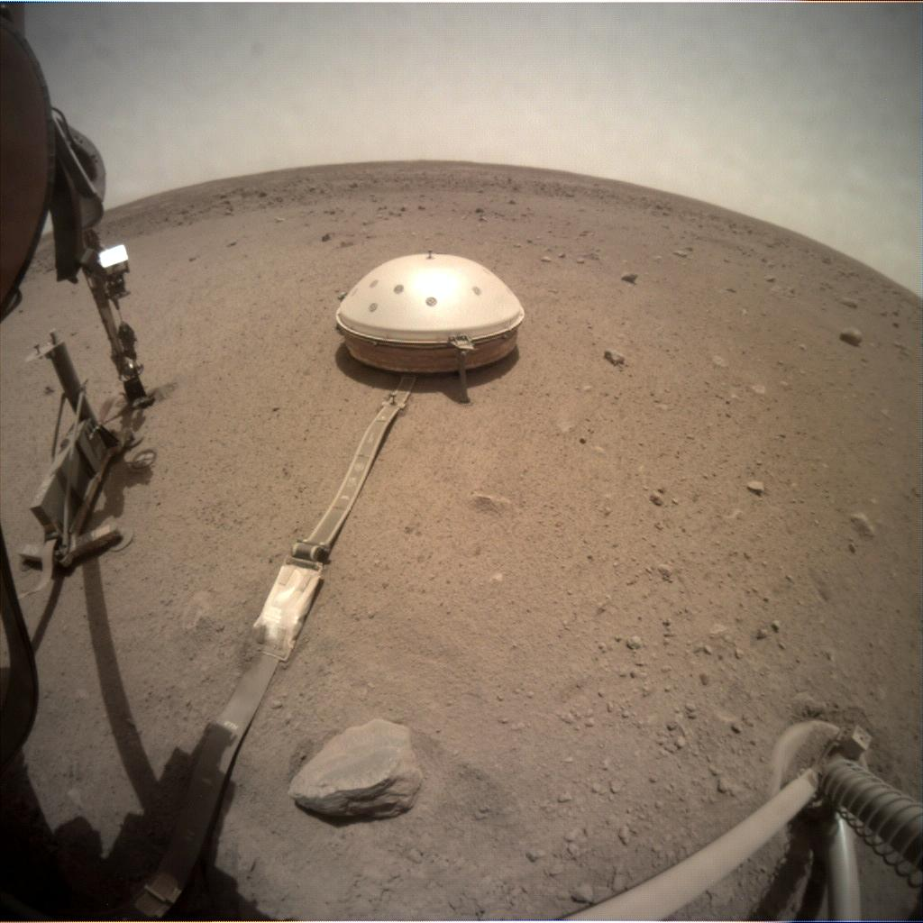 Nasa's Mars lander InSight acquired this image using its Instrument Context Camera on Sol 534