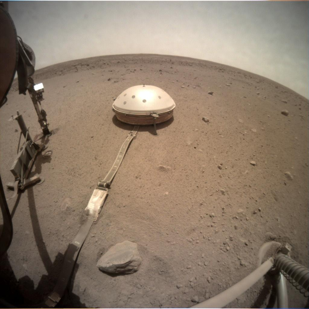 Nasa's Mars lander InSight acquired this image using its Instrument Context Camera on Sol 537