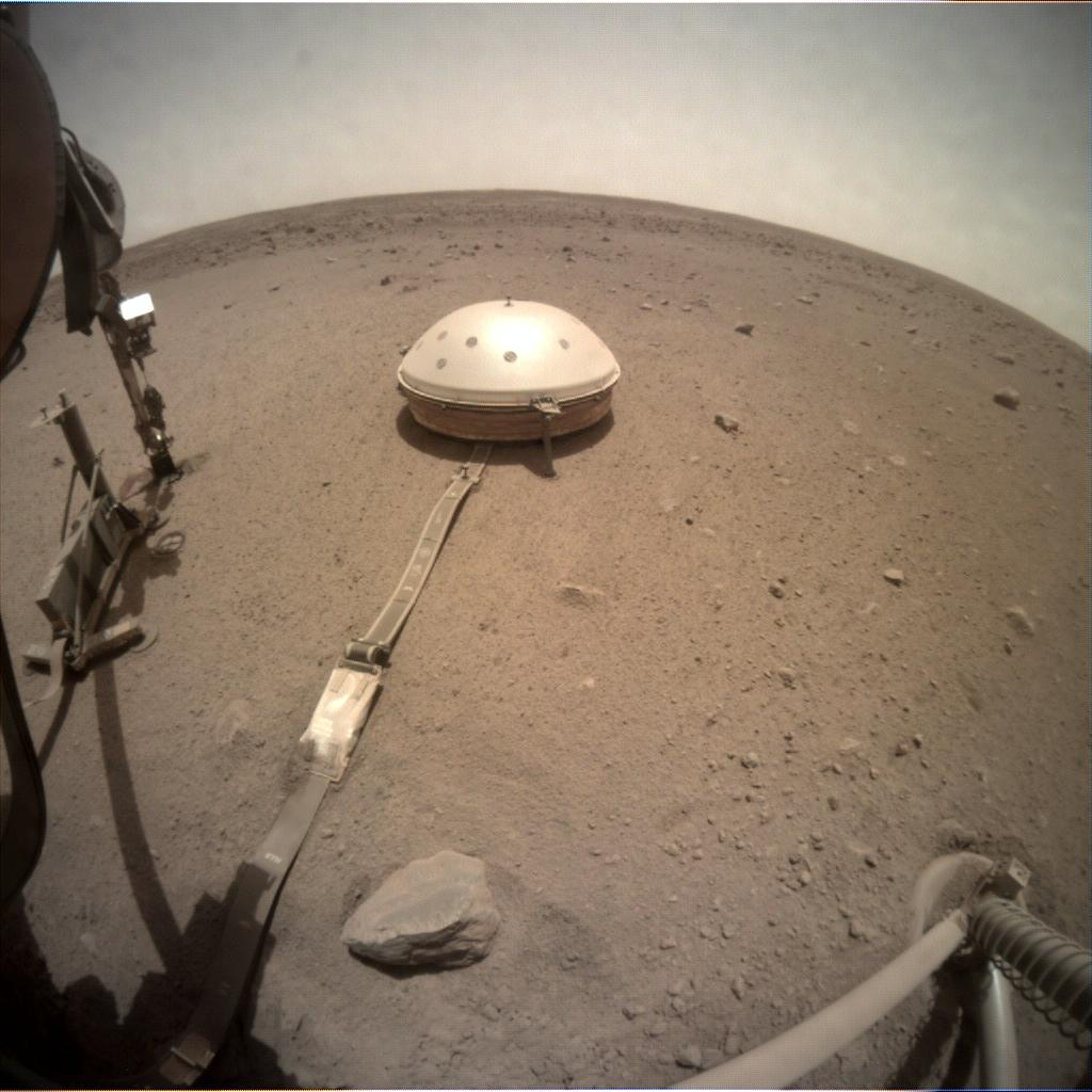 Nasa's Mars lander InSight acquired this image using its Instrument Context Camera on Sol 538