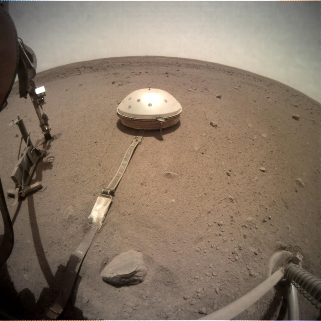 Nasa's Mars lander InSight acquired this image using its Instrument Context Camera on Sol 540