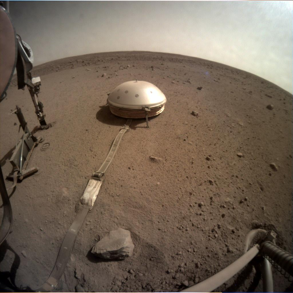 Nasa's Mars lander InSight acquired this image using its Instrument Context Camera on Sol 543