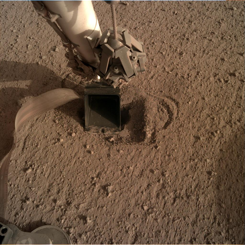 Nasa's Mars lander InSight acquired this image using its Instrument Deployment Camera on Sol 543