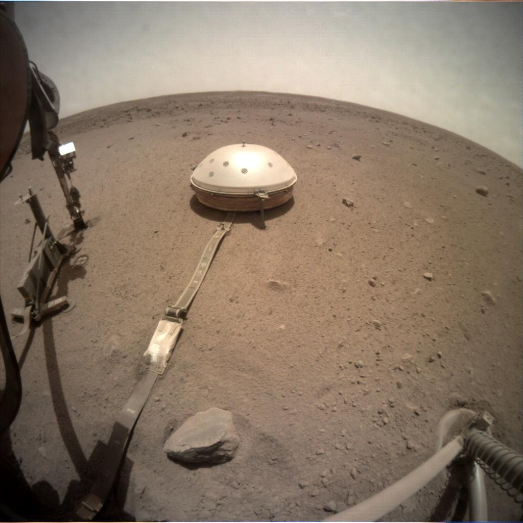 Nasa's Mars lander InSight acquired this image using its Instrument Context Camera on Sol 549