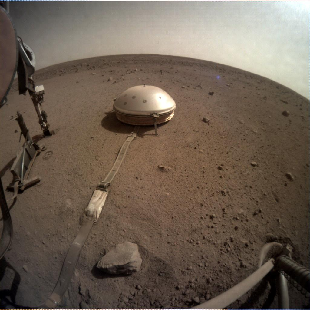 Nasa's Mars lander InSight acquired this image using its Instrument Context Camera on Sol 550