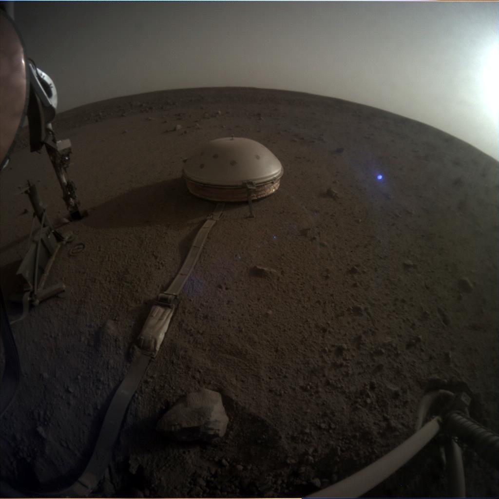 Nasa's Mars lander InSight acquired this image using its Instrument Context Camera on Sol 557