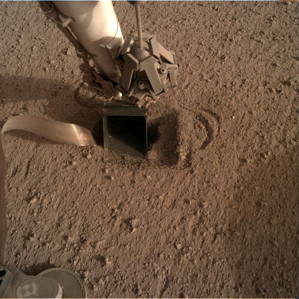 Nasa's Mars lander InSight acquired this image using its Instrument Deployment Camera on Sol 557