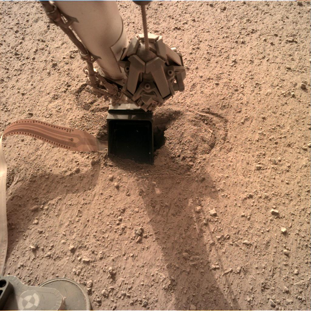 Nasa's Mars lander InSight acquired this image using its Instrument Deployment Camera on Sol 558