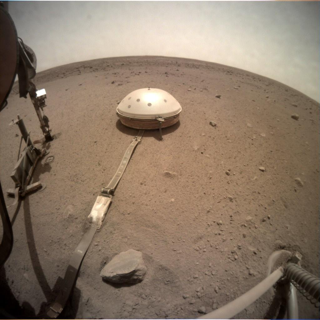 Nasa's Mars lander InSight acquired this image using its Instrument Context Camera on Sol 561