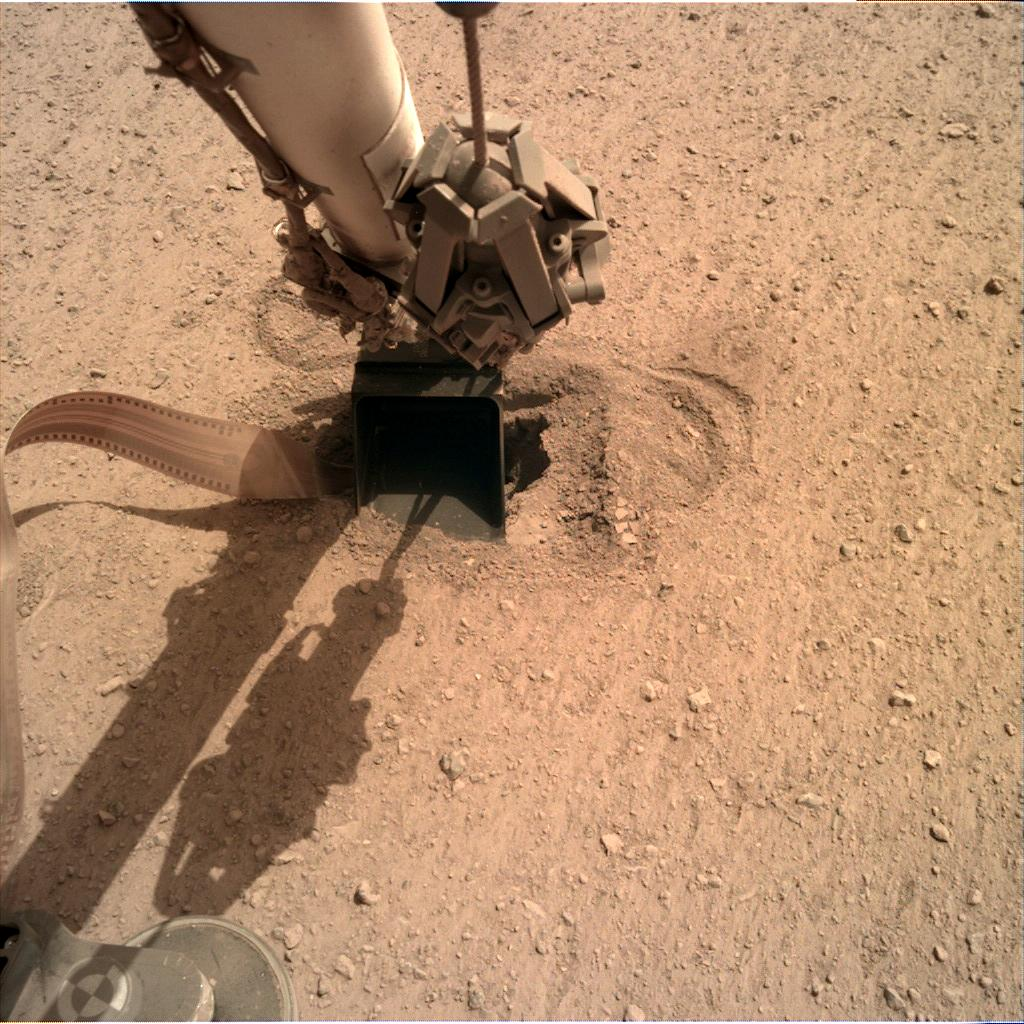 Nasa's Mars lander InSight acquired this image using its Instrument Deployment Camera on Sol 561