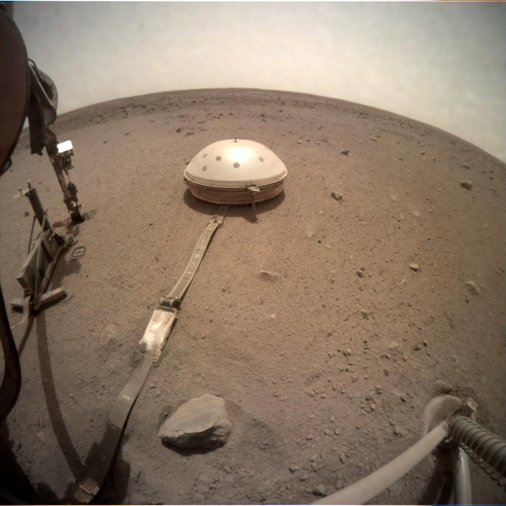 Nasa's Mars lander InSight acquired this image using its Instrument Context Camera on Sol 566