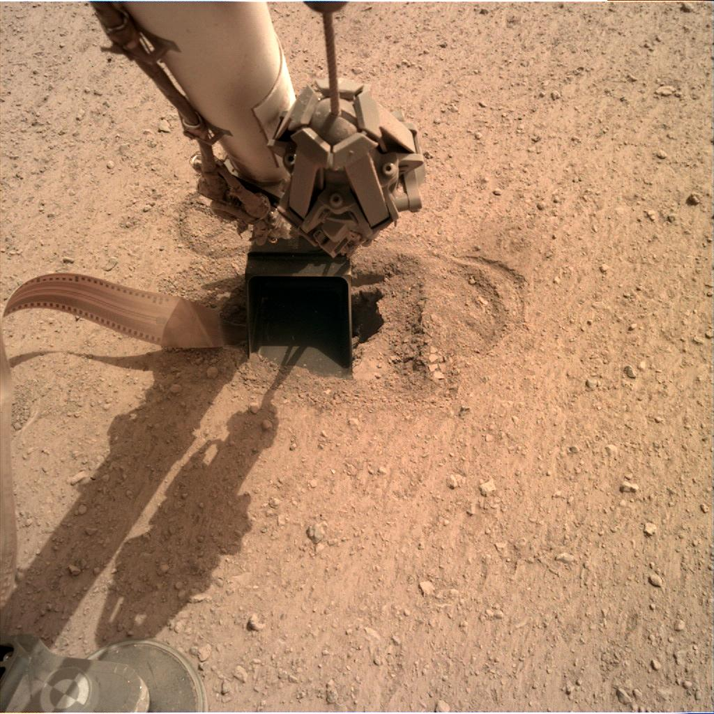 Nasa's Mars lander InSight acquired this image using its Instrument Deployment Camera on Sol 568