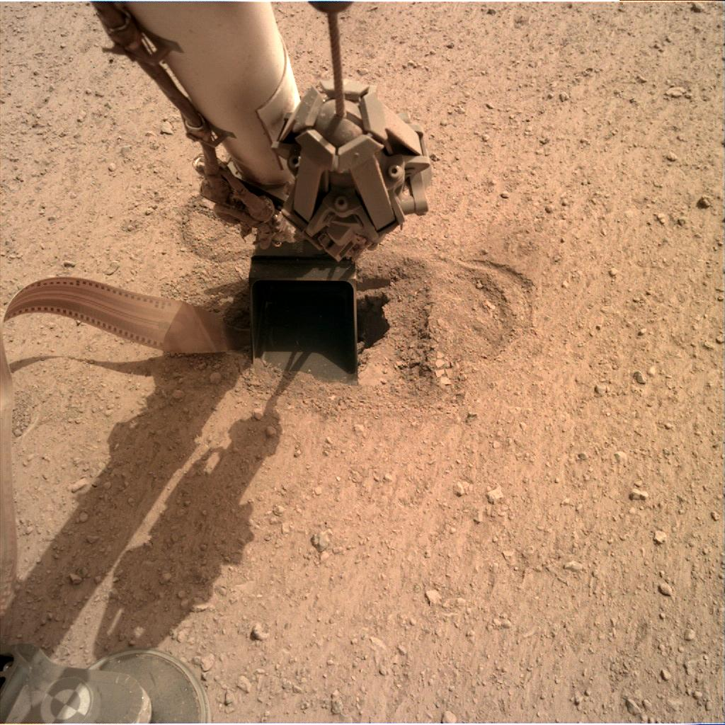 Nasa's Mars lander InSight acquired this image using its Instrument Deployment Camera on Sol 570