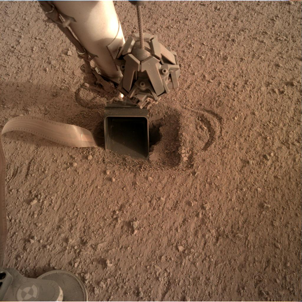 Nasa's Mars lander InSight acquired this image using its Instrument Deployment Camera on Sol 575