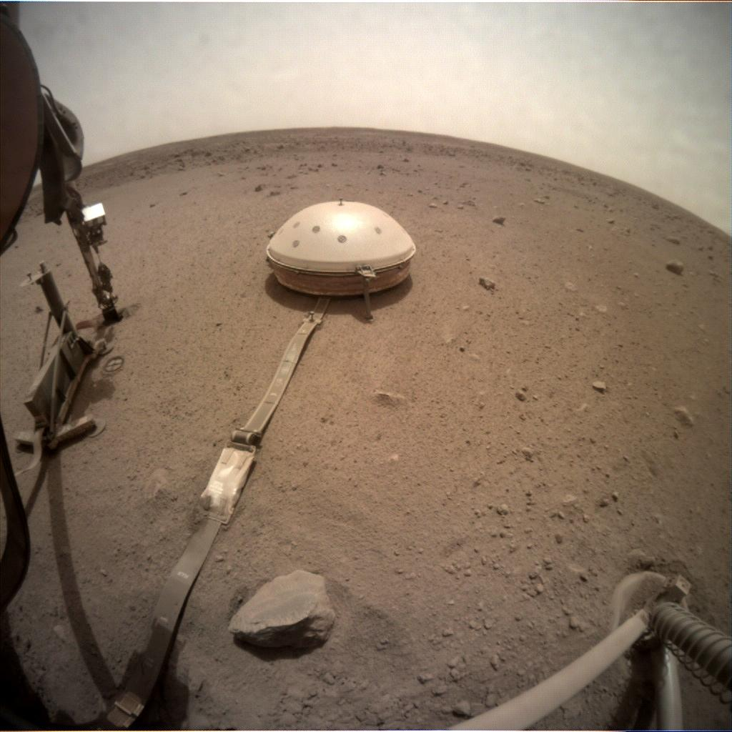 Nasa's Mars lander InSight acquired this image using its Instrument Context Camera on Sol 576