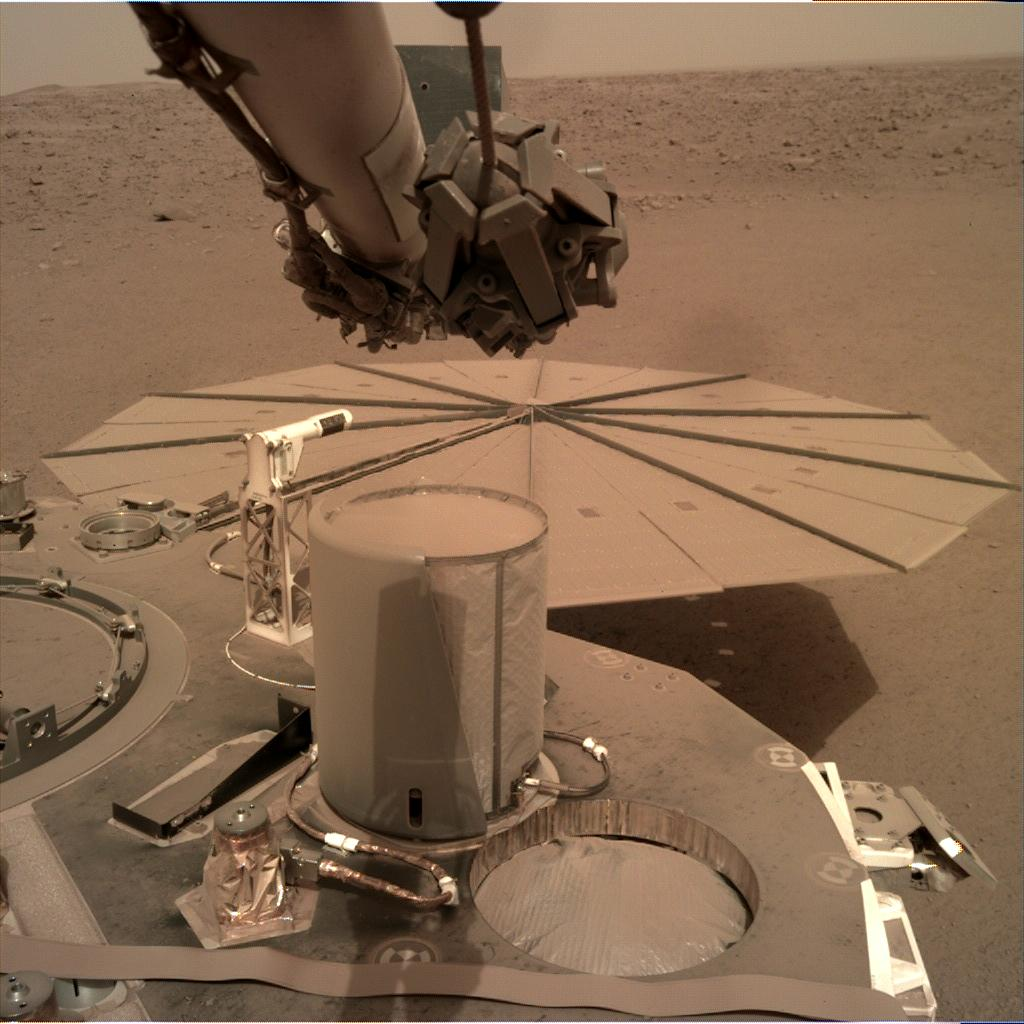 Nasa's Mars lander InSight acquired this image using its Instrument Deployment Camera on Sol 578