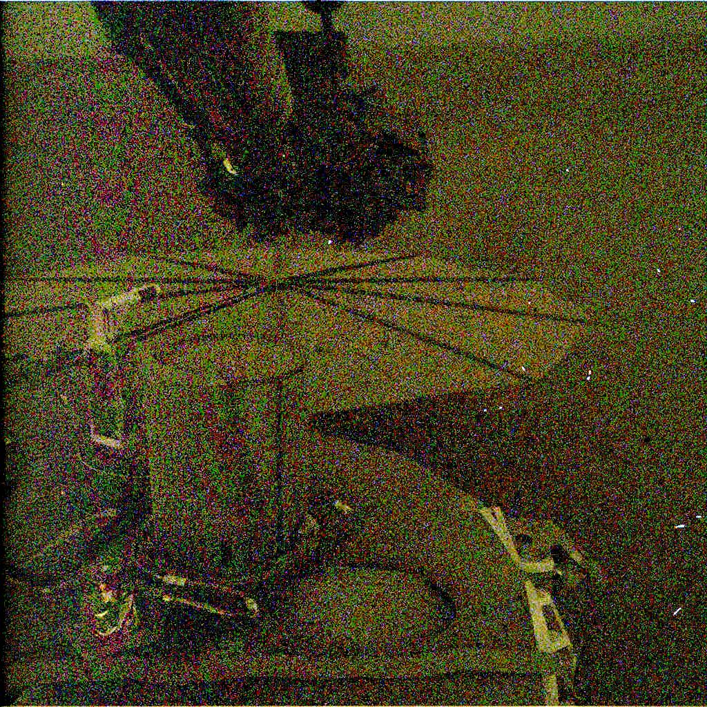 Nasa's Mars lander InSight acquired this image using its Instrument Deployment Camera on Sol 580