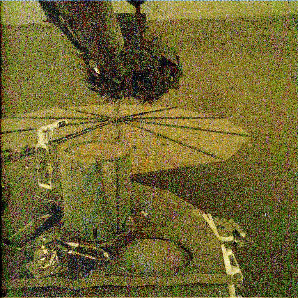Nasa's Mars lander InSight acquired this image using its Instrument Deployment Camera on Sol 583