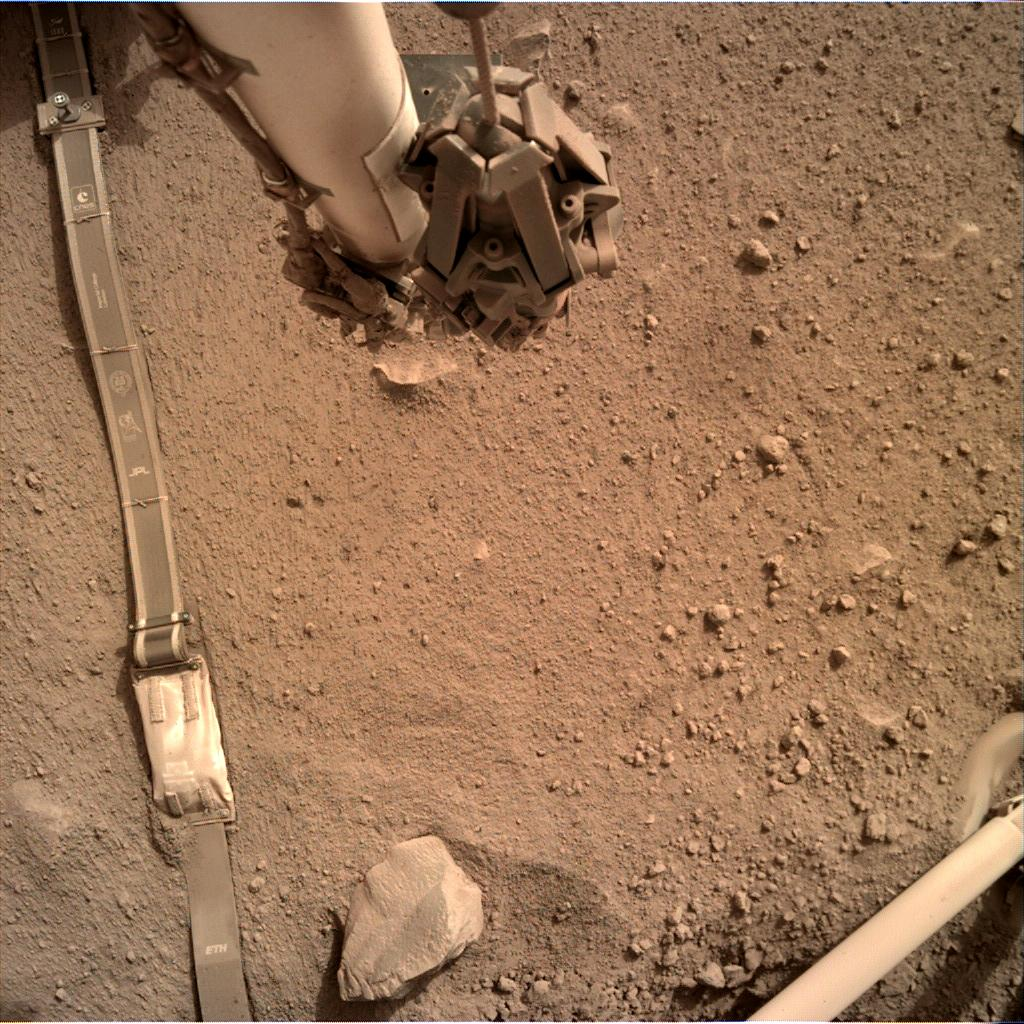 Nasa's Mars lander InSight acquired this image using its Instrument Deployment Camera on Sol 591