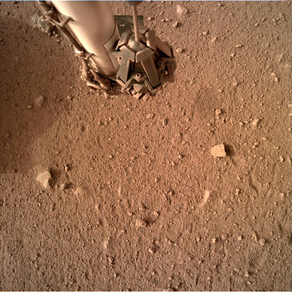 Nasa's Mars lander InSight acquired this image using its Instrument Deployment Camera on Sol 592