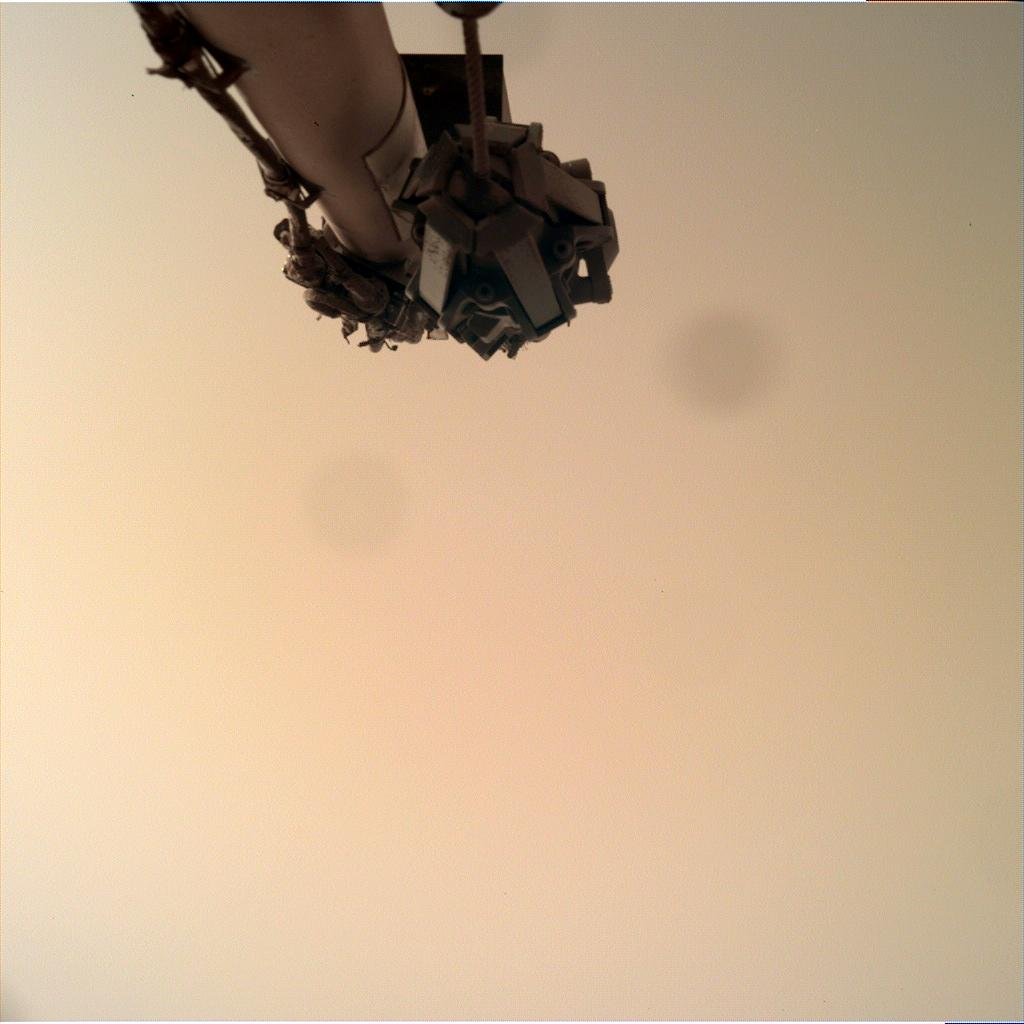 Nasa's Mars lander InSight acquired this image using its Instrument Deployment Camera on Sol 593