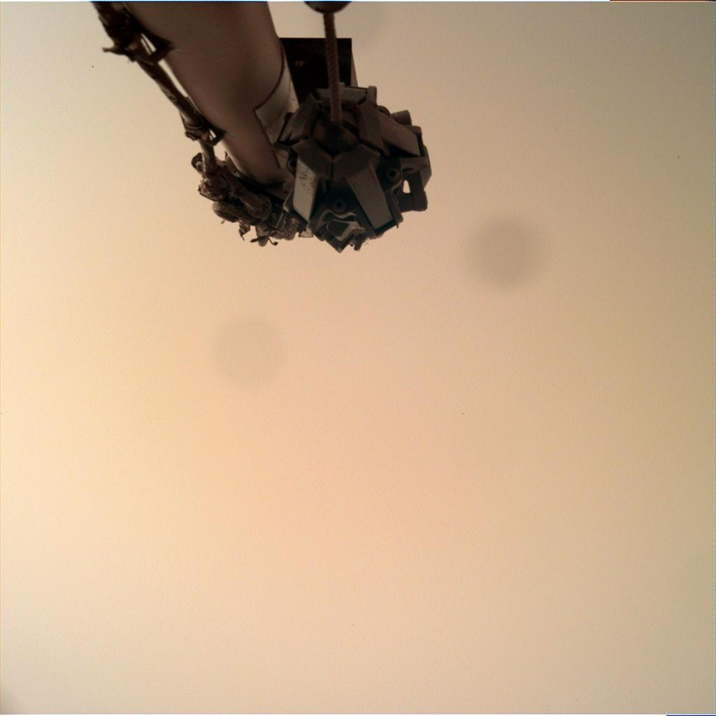 Nasa's Mars lander InSight acquired this image using its Instrument Deployment Camera on Sol 597