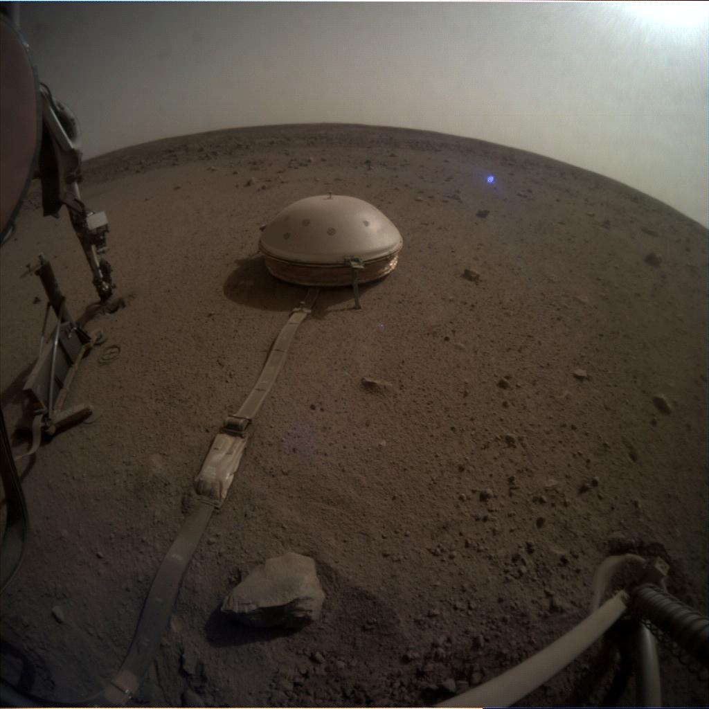 Nasa's Mars lander InSight acquired this image using its Instrument Context Camera on Sol 598
