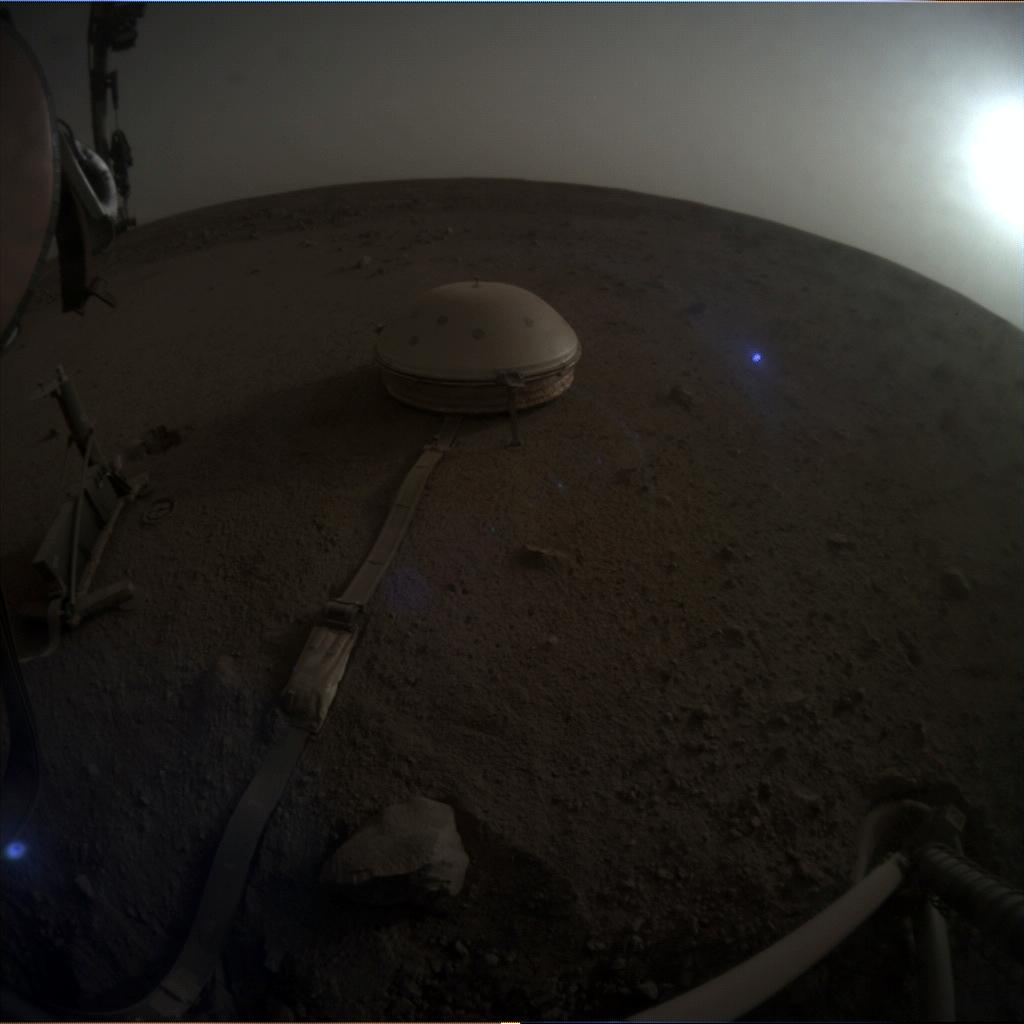 Nasa's Mars lander InSight acquired this image using its Instrument Context Camera on Sol 603