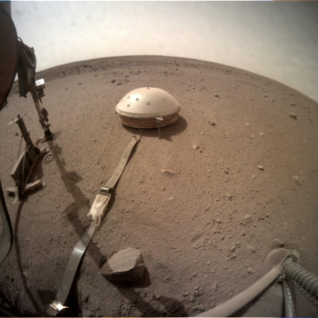 Nasa's Mars lander InSight acquired this image using its Instrument Context Camera on Sol 604