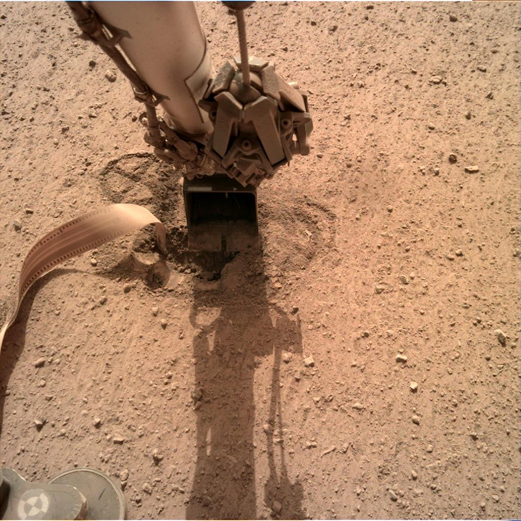 Nasa's Mars lander InSight acquired this image using its Instrument Deployment Camera on Sol 604