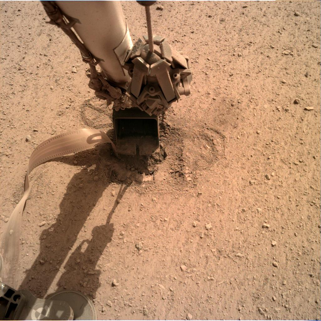 Nasa's Mars lander InSight acquired this image using its Instrument Deployment Camera on Sol 610