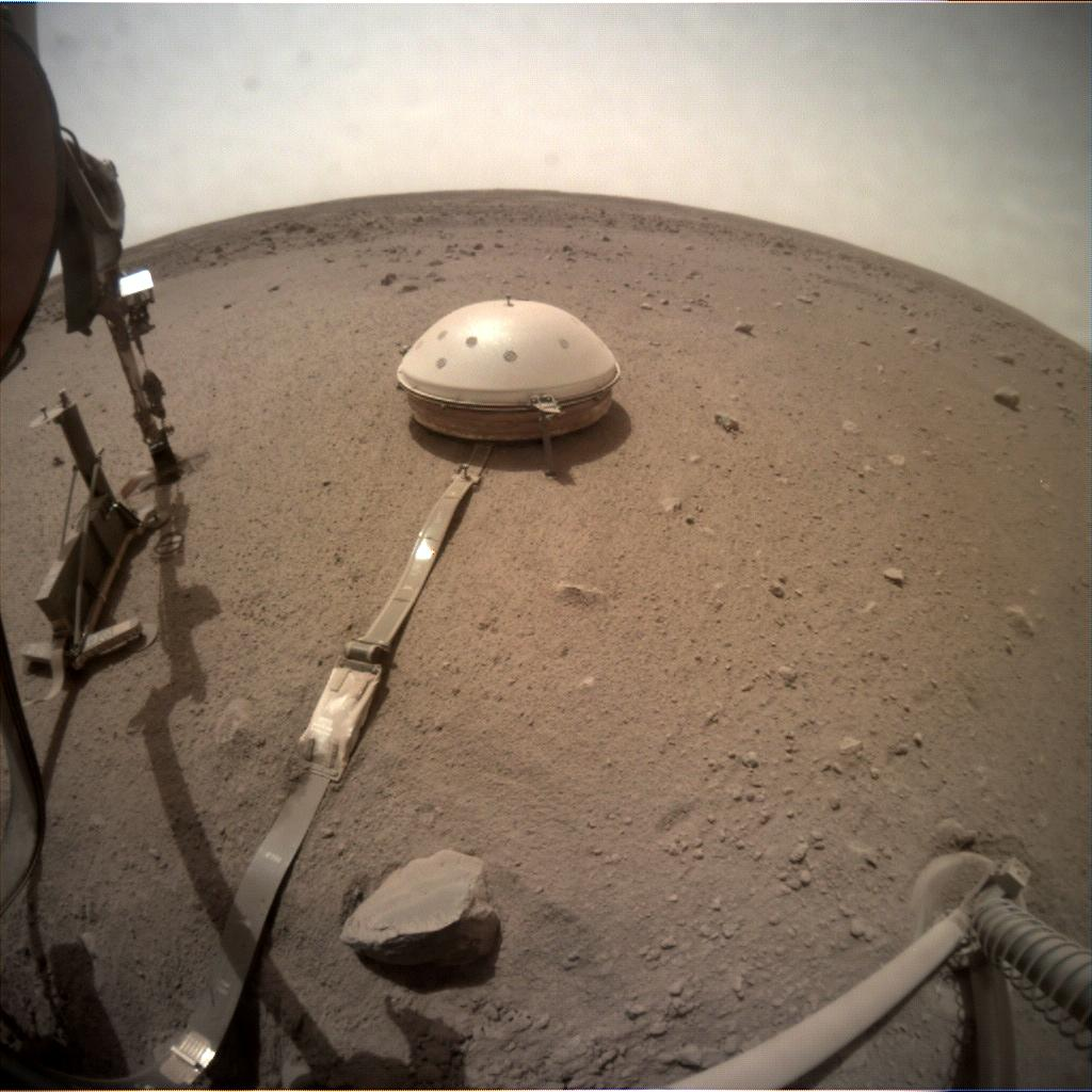 Nasa's Mars lander InSight acquired this image using its Instrument Context Camera on Sol 611