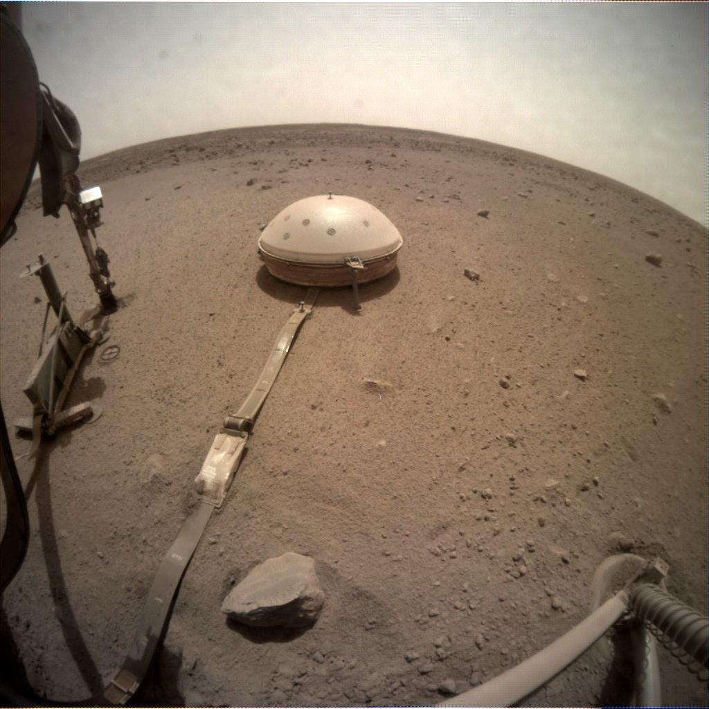 Nasa's Mars lander InSight acquired this image using its Instrument Context Camera on Sol 617