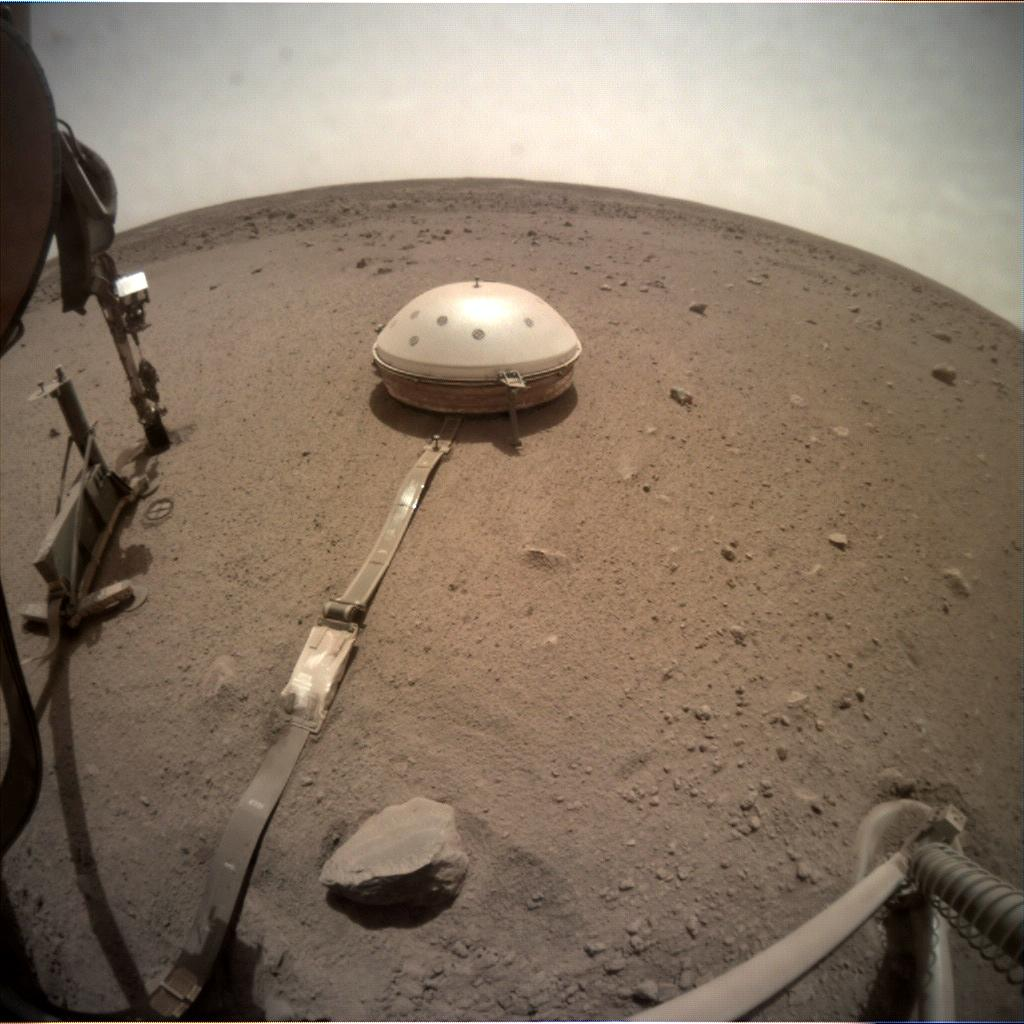 Nasa's Mars lander InSight acquired this image using its Instrument Context Camera on Sol 627