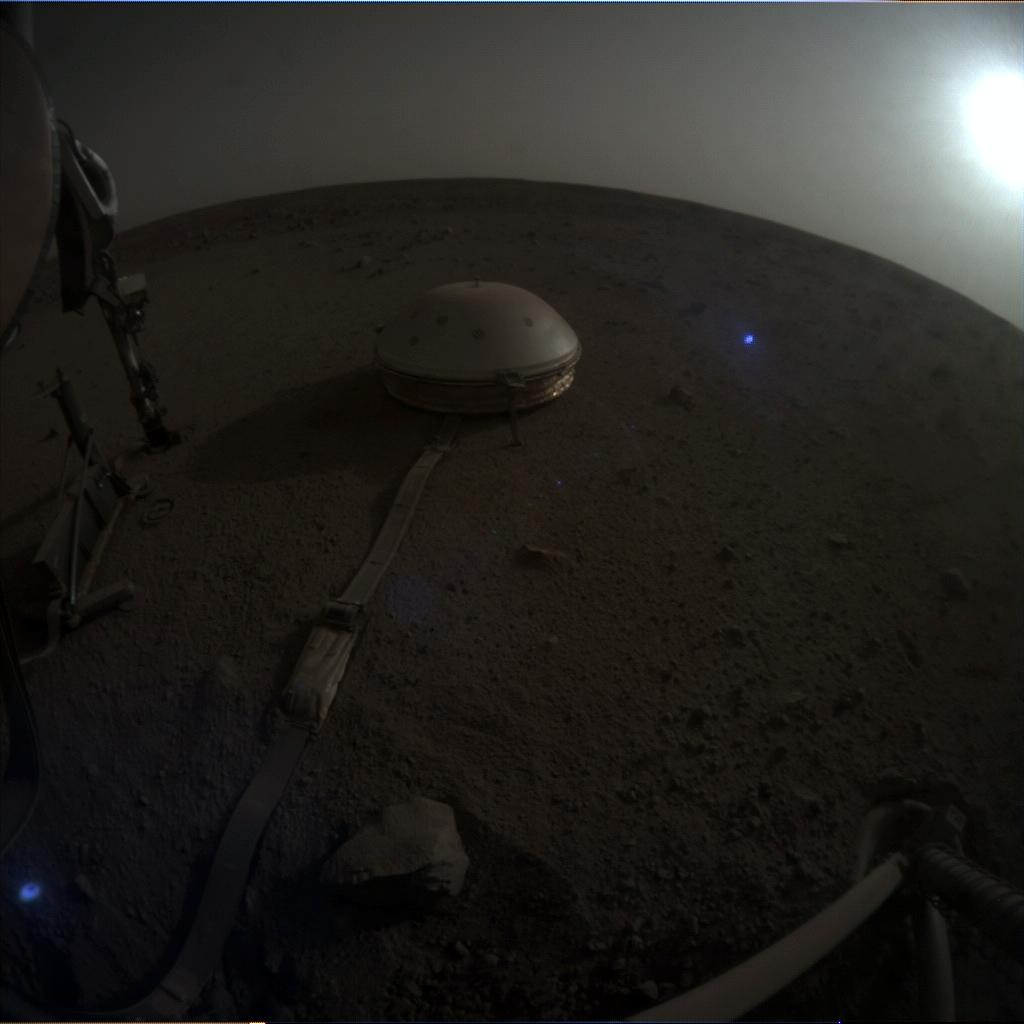 Nasa's Mars lander InSight acquired this image using its Instrument Context Camera on Sol 628