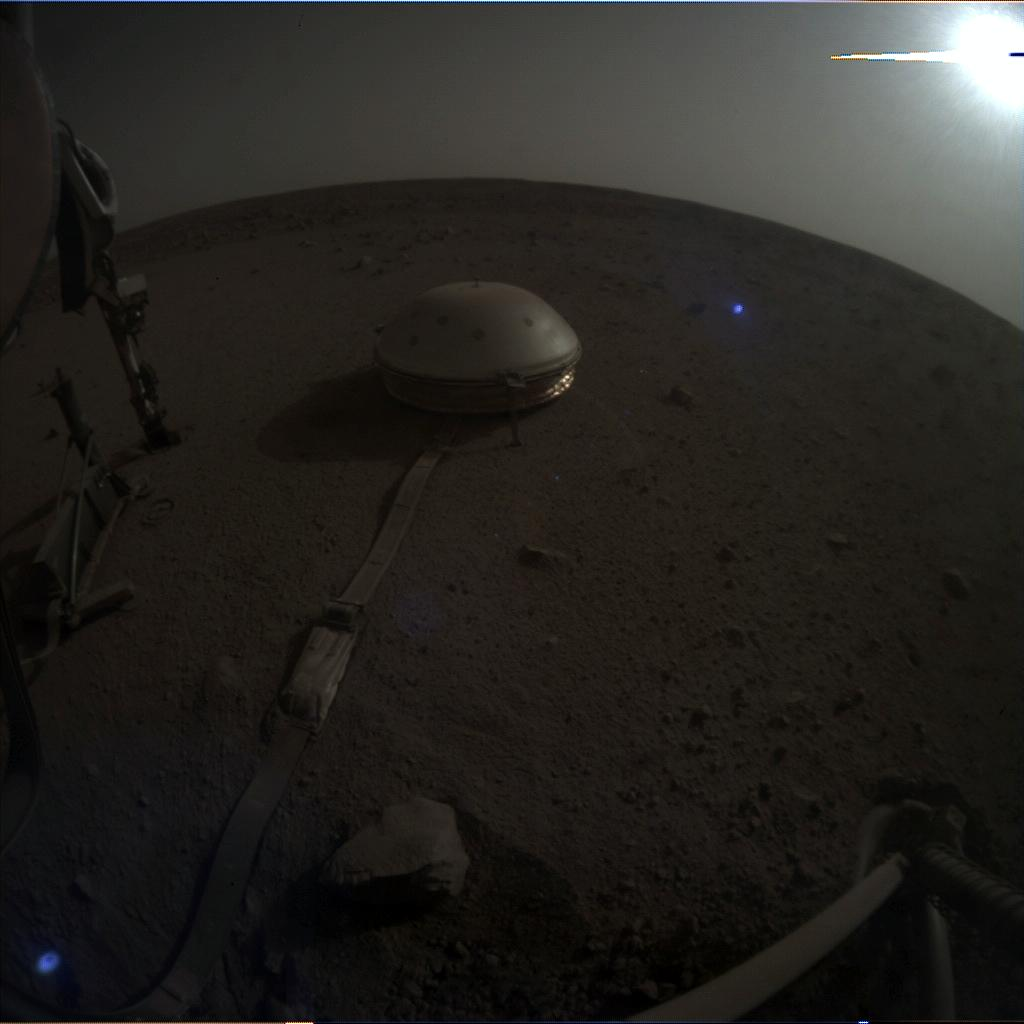 Nasa's Mars lander InSight acquired this image using its Instrument Context Camera on Sol 632