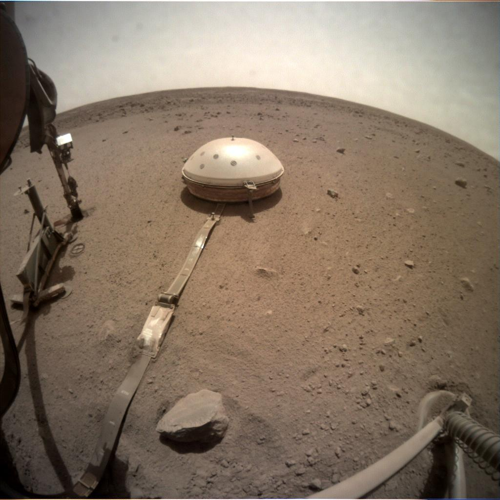 Nasa's Mars lander InSight acquired this image using its Instrument Context Camera on Sol 634