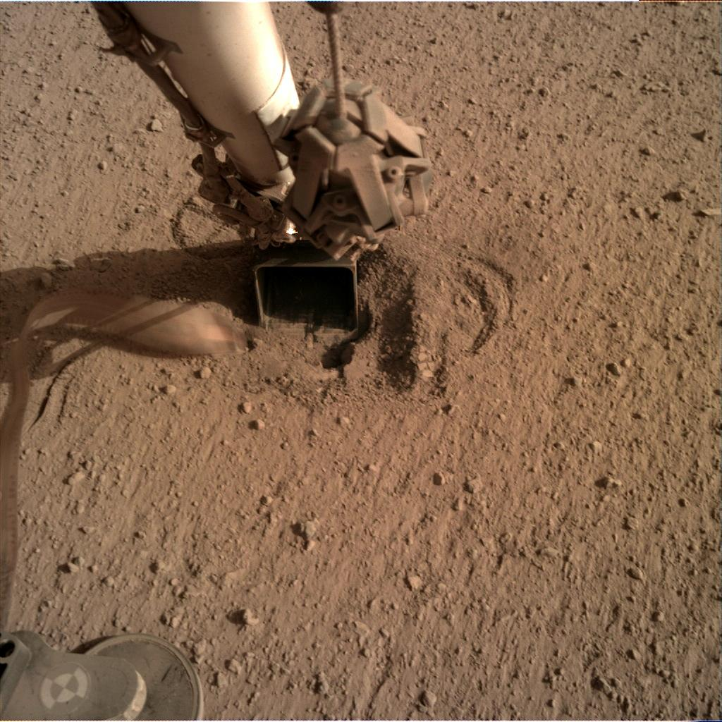 Nasa's Mars lander InSight acquired this image using its Instrument Deployment Camera on Sol 645