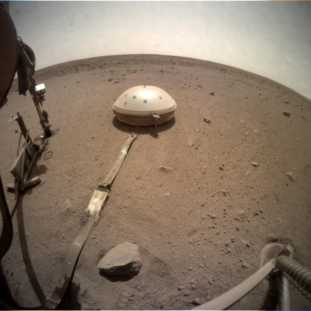 Nasa's Mars lander InSight acquired this image using its Instrument Context Camera on Sol 649