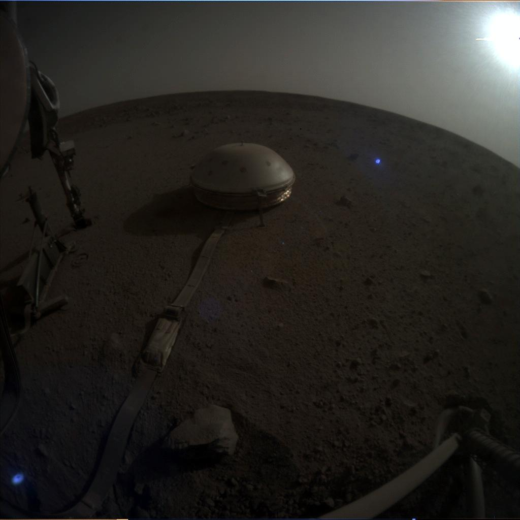 Nasa's Mars lander InSight acquired this image using its Instrument Context Camera on Sol 650