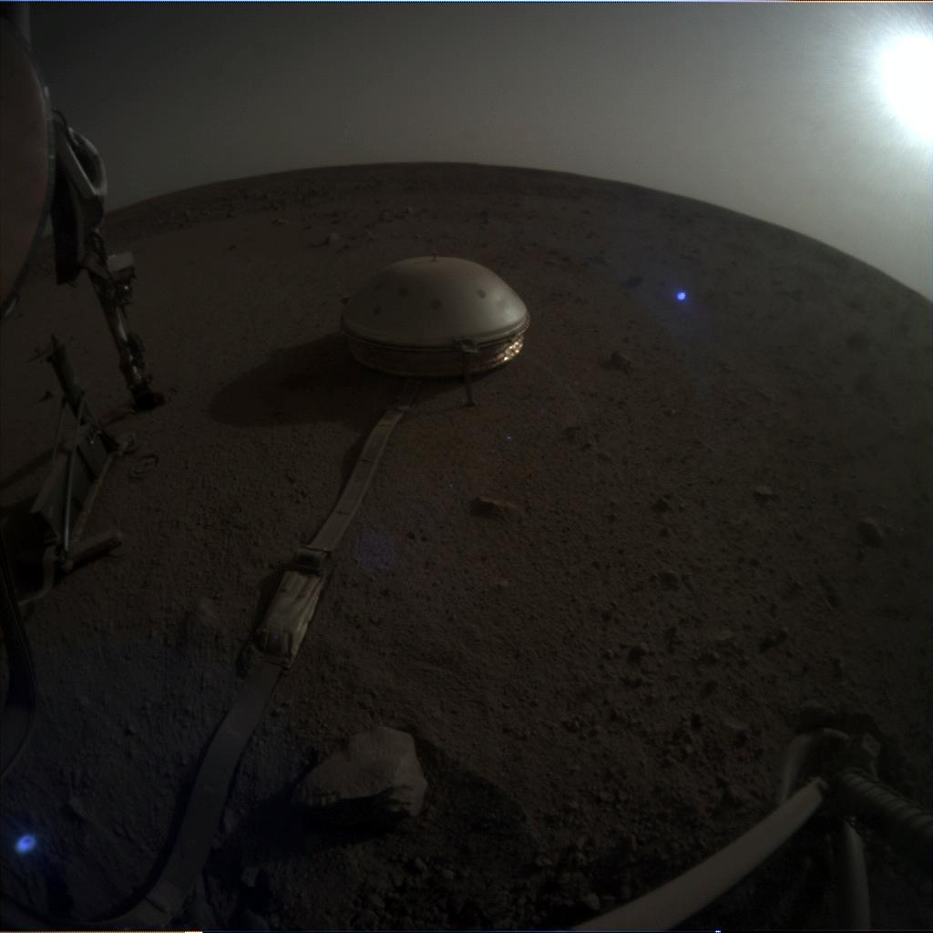 Nasa's Mars lander InSight acquired this image using its Instrument Context Camera on Sol 653