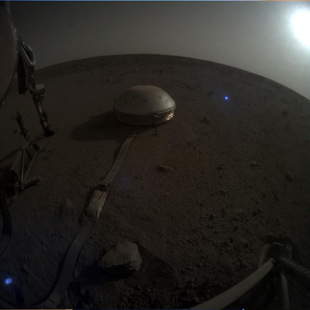 Nasa's Mars lander InSight acquired this image using its Instrument Context Camera on Sol 655